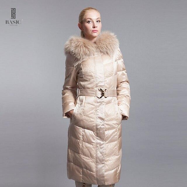 386d05c557d9 Basic Editions Winter Jacket Women Winter Coat Women Luxury Down Jackets  Women Large Fur Hood Duck