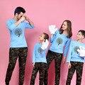 1 Шт. Семьи Сопоставления Одежда Печати Дерево Футболки 9 Цветов осень Семьи Соответствующие Наряды Отец и Мать и Дети Семья Посмотрите