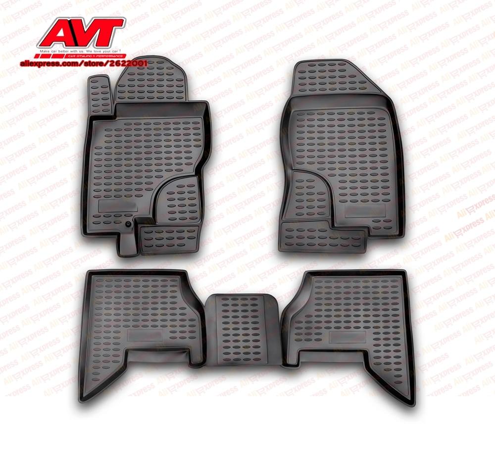Tapetes para Nissan Pathfinder 2005-2010 4 pcs tapetes de borracha antiderrapante de borracha interior car styling acessórios