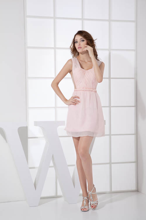 Babyonlinedress New Sexy Sweetheart Neck Knee Length   Bridesmaid     Dresses   Solid Chiffion Sleeveless   Dress   for Wedding Party