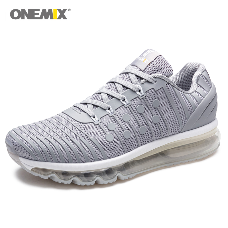 Onemix baskets Sport athlétique homme Ultra léger Trail Running marche Fitness Jogging Cross Training Gym hommes chaussure blanche
