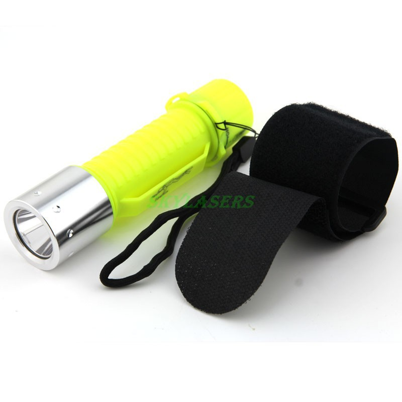 New 2000LM XM-L T6 LED Waterproof underwater scuba Dive Diving Flashlight Torch light lamp (18650/3*AAA))