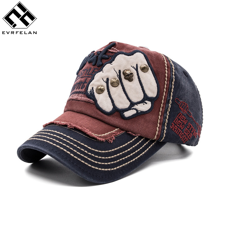 Xuyijun Wholesale Brand Baseball Cap Equipped Hat Casual Hat Gorras 4 Panel Hip Hop Snapback Hats Wash Cap For Men Unisex Men's Hats