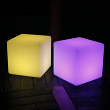 LED Light Up Color Changing Cube Stool Led Night Light Party Wedding Stool Scene Decoration Lamp Living Room Indoor Night Lamp black color living room stool pp seat steel metal leg red yellow green color chiar stool retail wholesale free shipping