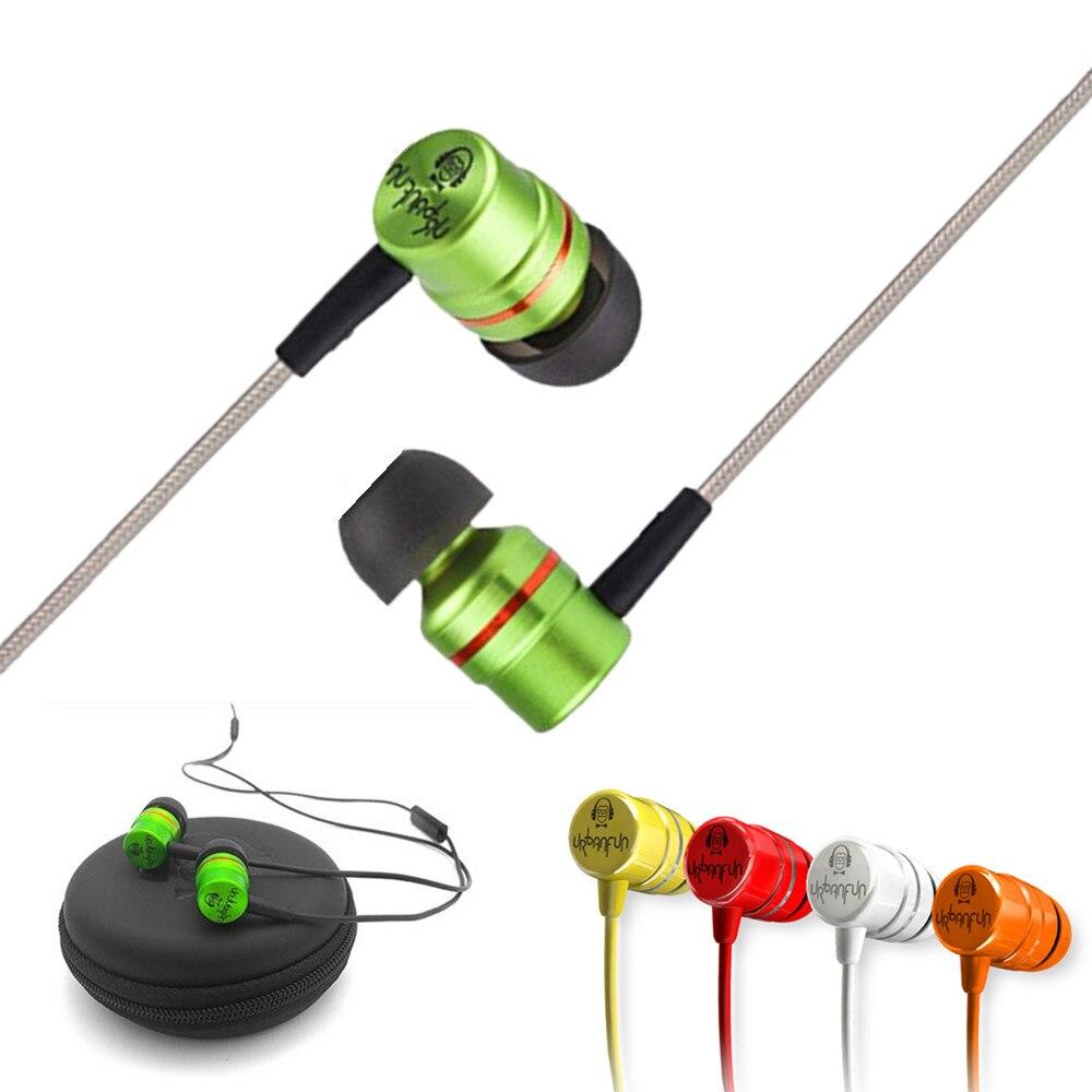 Marca II_URBANFUN insignia versión más simple 3.5mm HiFi berilio/híbrido auricular con micrófono libre del envío BM-1