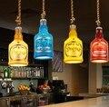 Лофт стиль креативные бутылки смолы Droplight LED винтажные подвесные светильники для столовой подвесной светильник домашний декор Освещение