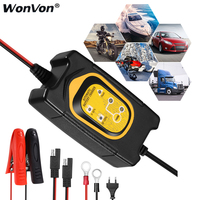 car battery charger 12v Pulse Repair 6V 12V 1.5A Automatic trickle charger maintainer chargeur batterie moto cargador auto carro