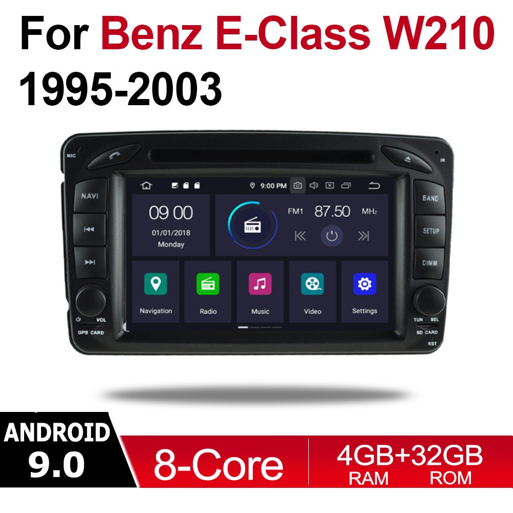 Android 9 0 Octa Core 4GB RAM Car DVD for Mercedes Benz E Class W210 1995 2003 NTG GPS Radio Navi MAP Multimedia player system in Car Multimedia Player from Automobiles Motorcycles