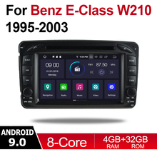 Android 9.0 Octa Core 4GB RAM Car DVD for Mercedes Benz E Class W210 1995~2003 NTG GPS Radio Navi MAP Multimedia player system eunavi octa core android 8 0 car dvd for mercedes benz r class w251 r280 r300 r320 r350 gps radio stereo 4gb ram 32gb rom