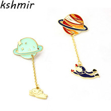 2018 fashion lady brooch Lovely and sweet planet astronauts rabbit female badge
