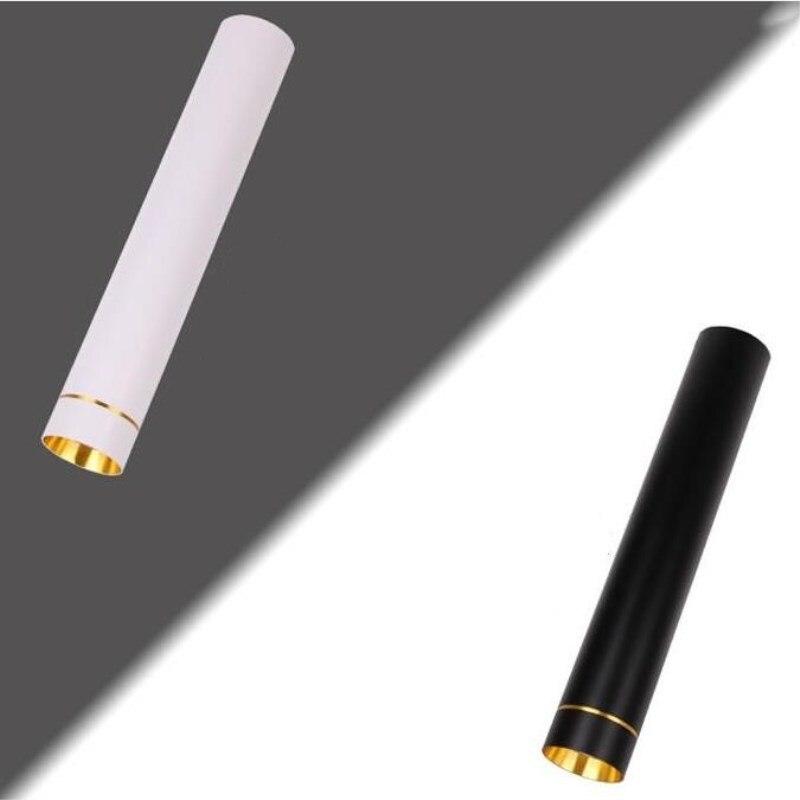 Dimmable Surface montée LED Downlight 20 W COB LED plafond vers le bas AC110V/220 V spot lumière + LED conducteur blanc/noir couleur du boîtier