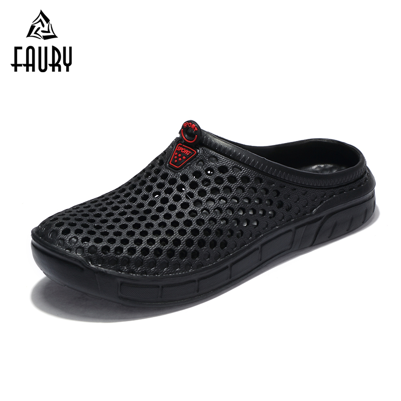Men Women Couple Work Shoes Breathable Soft Hole Shoes Soft Casual Anti-slip Chef Kitchen Footwear Sandals Flip Flop