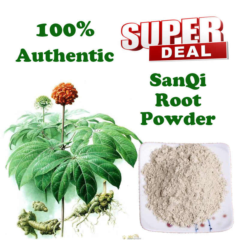 100g Superfine Pure Notoginseng Powder/Tienchi Powder Anti-aging Beauty sanqi root powder pseudo-ginseng herb tea free shipping free shipping 500g famous health care tea taiwan dong ding ginseng oolong tea ginseng tea chinese green natural food