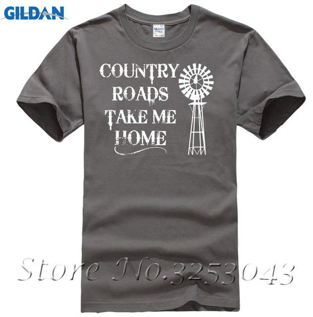 94ee3616a Online Shop Country Roads Take Me Home Short Sleeve T Shirt Country Music  Graphic Tee | Aliexpress Mobile