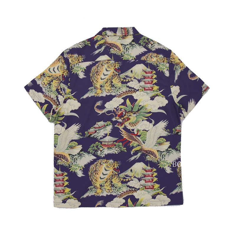 Рубашка Bob Dong мужская, винтажная, гавайская, с цветочным узором