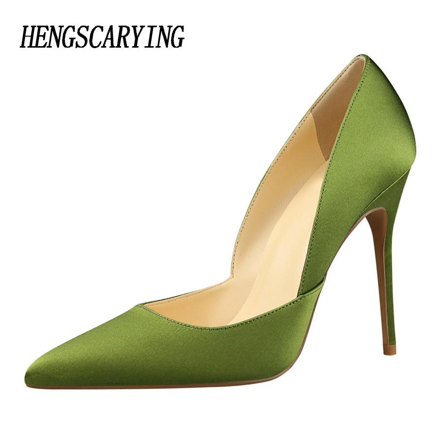 Classic Pointed Toe Stiletto Heel Pumps Women 12 Cm High