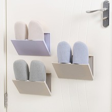 2018 New Wall Hanging Type Folding Shoe Racks With Cover Creative Wall Magic Sticker Bathroom Toilet Storage Hanger Organizer