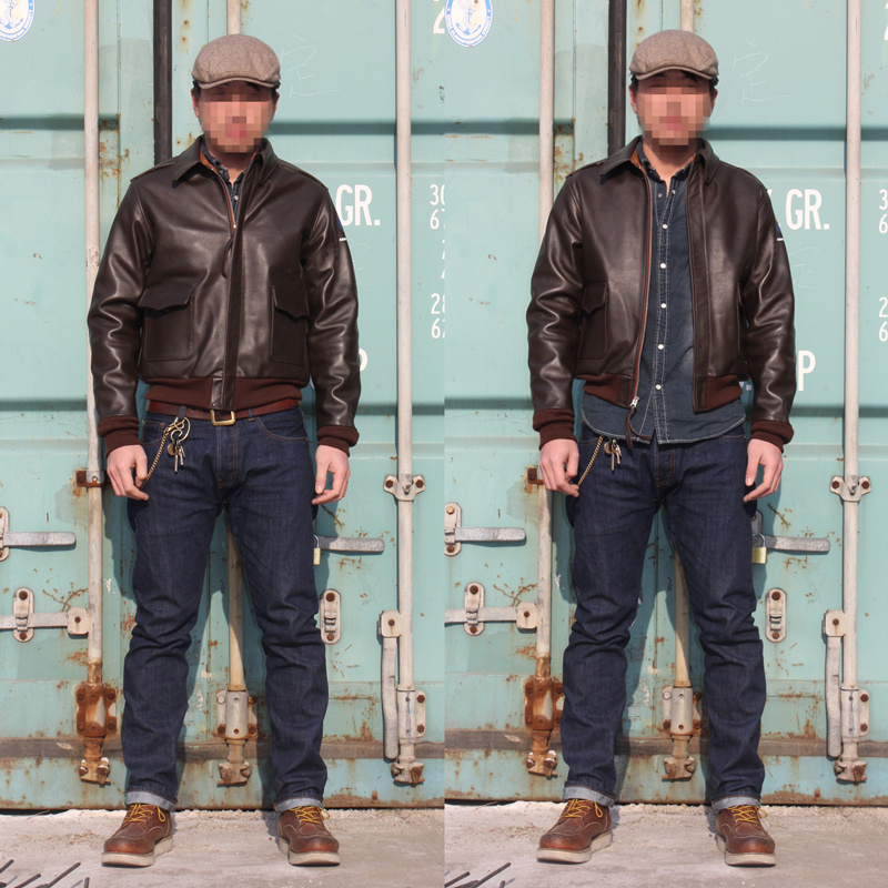 Real Mccoy The Air Force Horse Garments In Faux Leather