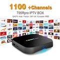 Europa Francês Árabe IPTV Canais incluído Android 6.0 Caixa de TV S912 T95RPRO Esporte Apoio Canal Plus Francês Iptv Set Top caixa