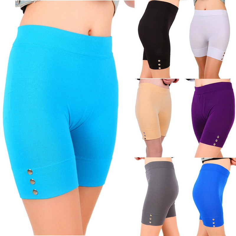 OEAK Casual Solid Women Summer   Leggings   Slim Fitness High Stretch Short   Leggings   Female Short Trousers Sporting   Leggings