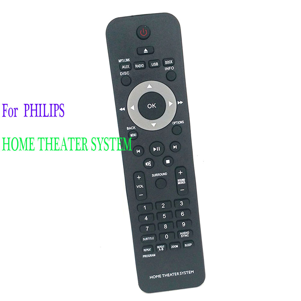 New Remote Control For <font><b>Philips</b></font> <font><b>HOME</b></font> <font><b>THEATER</b></font> SYSTEM HTS3367/05 <font><b>Remoto</b></font> <font><b>Controle</b></font> Fernbedienung image