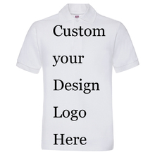 Poloshirt Custom Customized Printing Logo Customer Make Text designer Print Shirts company/hotel/Staff Name Cotton polo shirts