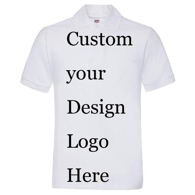 d669bb27e5 Poloshirt Personalizado Personalizado Impressão Do Logotipo Do Cliente  Fazer Texto designer Camisas de Impressão da empresa