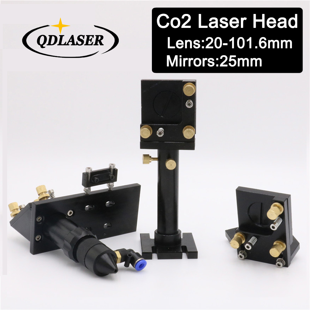 CO2 Laser Head with Reflective Mirror 25mm & Focus Focal Lens 20mm-101.6mm Integrative Mounts Set for Laser Cutting laser head engraving laser cutting head for 20mm laser focus lens 25mm laser mirror