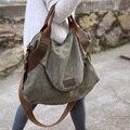 2017 FRETE GRÁTIS bolso grande ocasional bolsa bolsa de ombro das mulheres cross-corpo bolsas de couro da lona sacos grandes de capacidade para mulheres