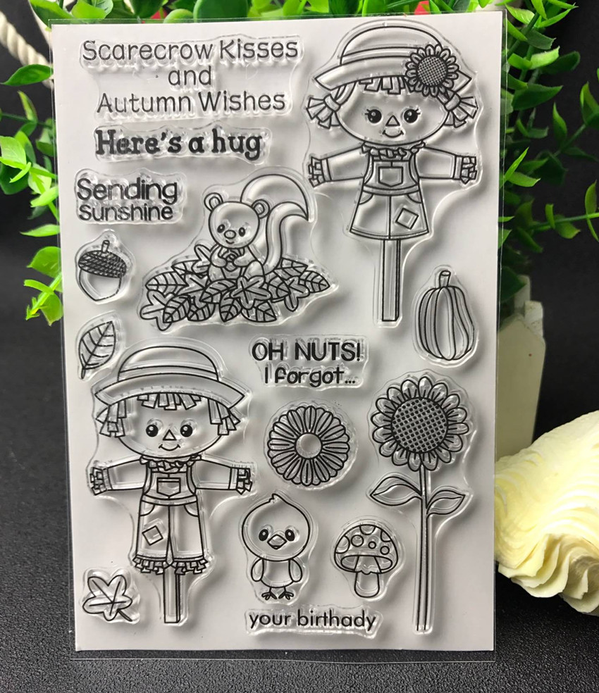 Scarecrow Transparent Clear Silicone Stamp/Seal for DIY scrapbooking/photo album Decorative clear stamp lovely animals and ballon design transparent clear silicone stamp for diy scrapbooking photo album clear stamp cl 278