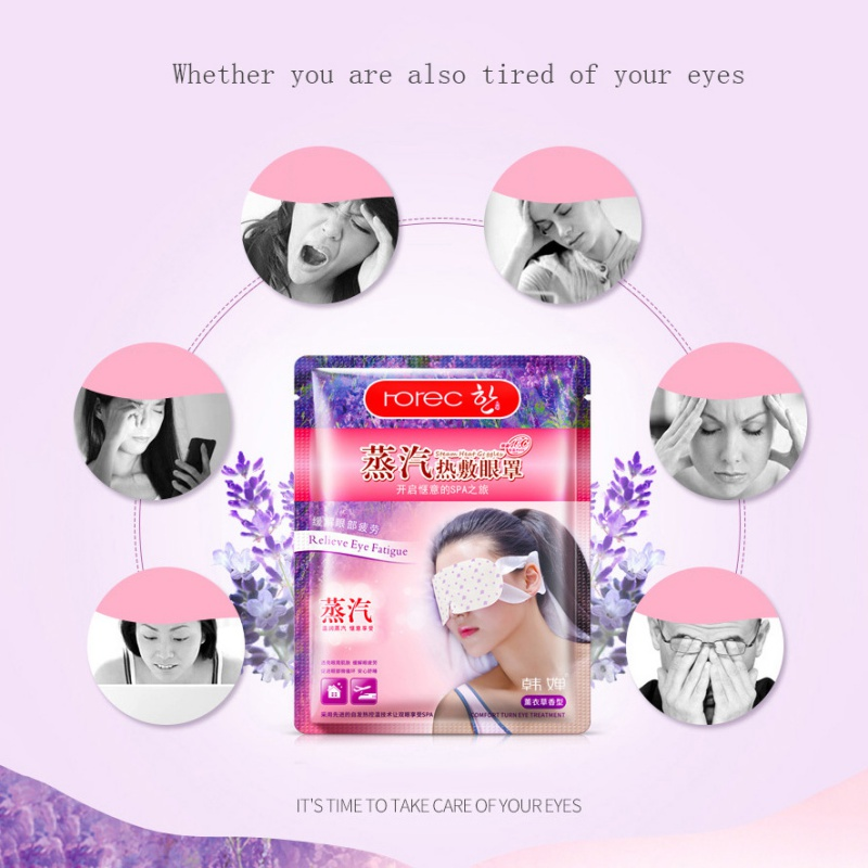 BIOAQUA 1Pcs Lavender Oil Steam Eye Mask Eye Care Sleep Patches Eye Patch Skin Eye Bags Fine Line Wrinkles Anti Aging 4