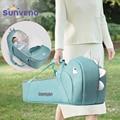 Sunveno Tragbare Baby Tragekorb Baby Reise Bett Krippe Infant Transporter Korb Neugeborenen Clamshell Bett für Baby 0-12Months