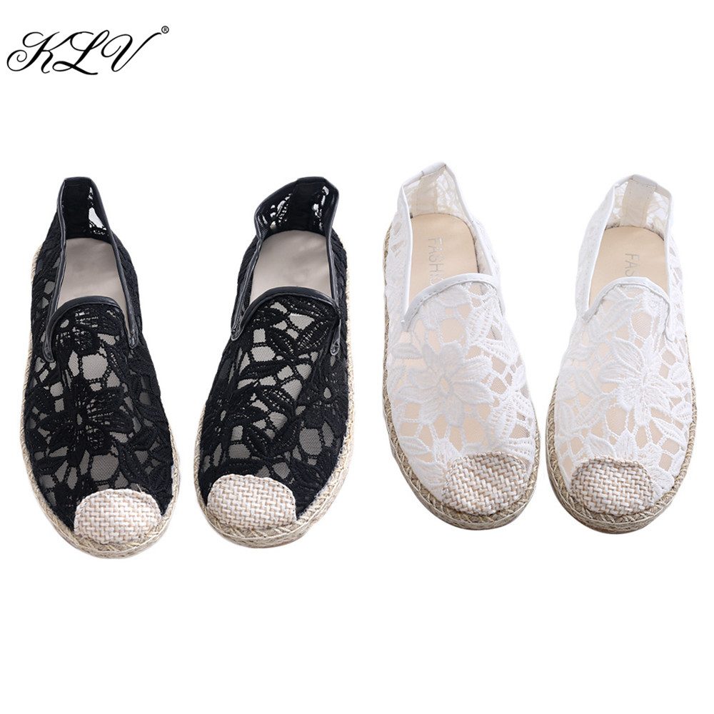 THINKTHENDO 2017 New Fashion Flat Shoes Casual Flat Outdoor Leisure Hollow Breathable Mesh Shoes Women USA Size 4.5 to 7