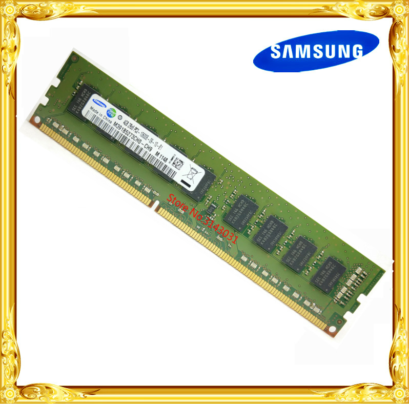 <font><b>Samsung</b></font> <font><b>DDR3</b></font> 4GB server memory 1333MHz Pure ECC UDIMM workstation RAM 2RX8 PC3-10600E 10600 Unbuffered image