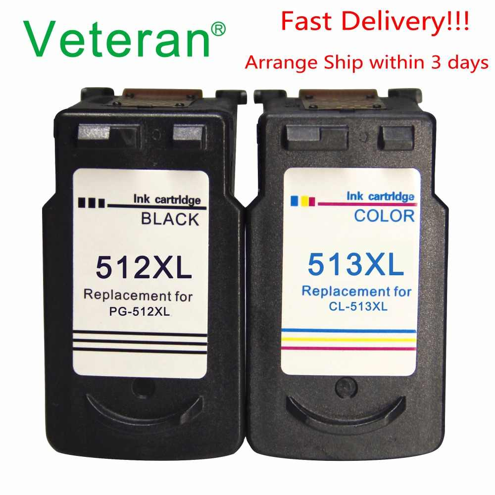 Veteran PG512 CL513 Ink Cartridge Pengganti untuk Canon PG 512 CL 513 512XL PIXMA MP240 MP250 MP270 MP230 MP480 MX350 printer