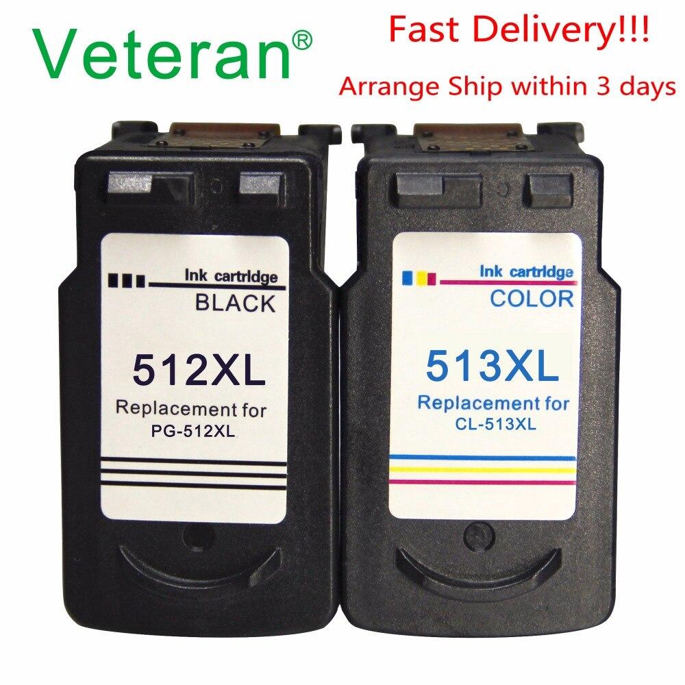 Сменный картридж Veteran PG512 CL513 для Canon PG 512 CL 513 512XL Pixma MP240 MP250 MP270 MP230 MP480 MX350