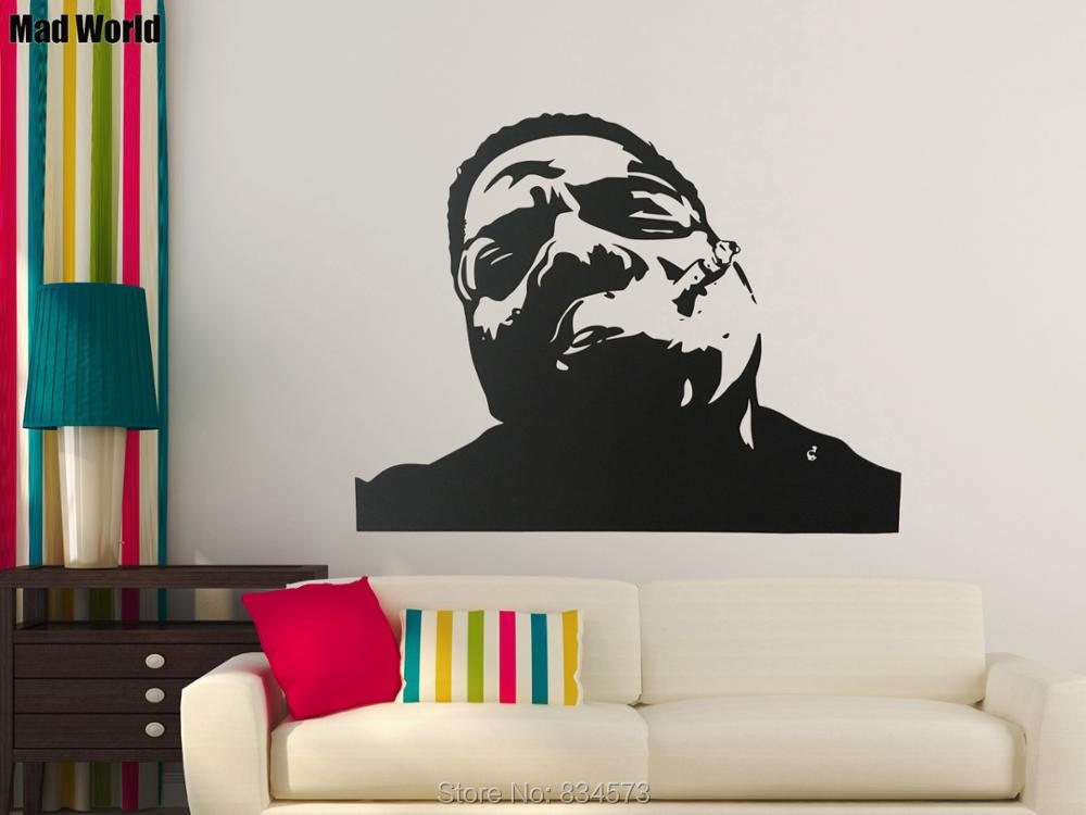Aliexpress.com : Buy Mad World Notorious BIG Biggie Hip Hop Rap Wall Art Stickers  Wall Decal Home DIY Decoration Removable Decor Wall Stickers From Reliable  ... Part 72