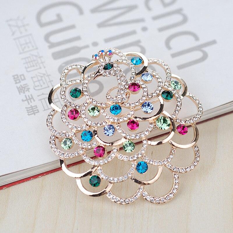 Fashion elegant full rhinestone crystal brooch corsage accessories vintage royal fresh jewelry high quality brand jewellery fresh brand fresh brand fr040emjqo81
