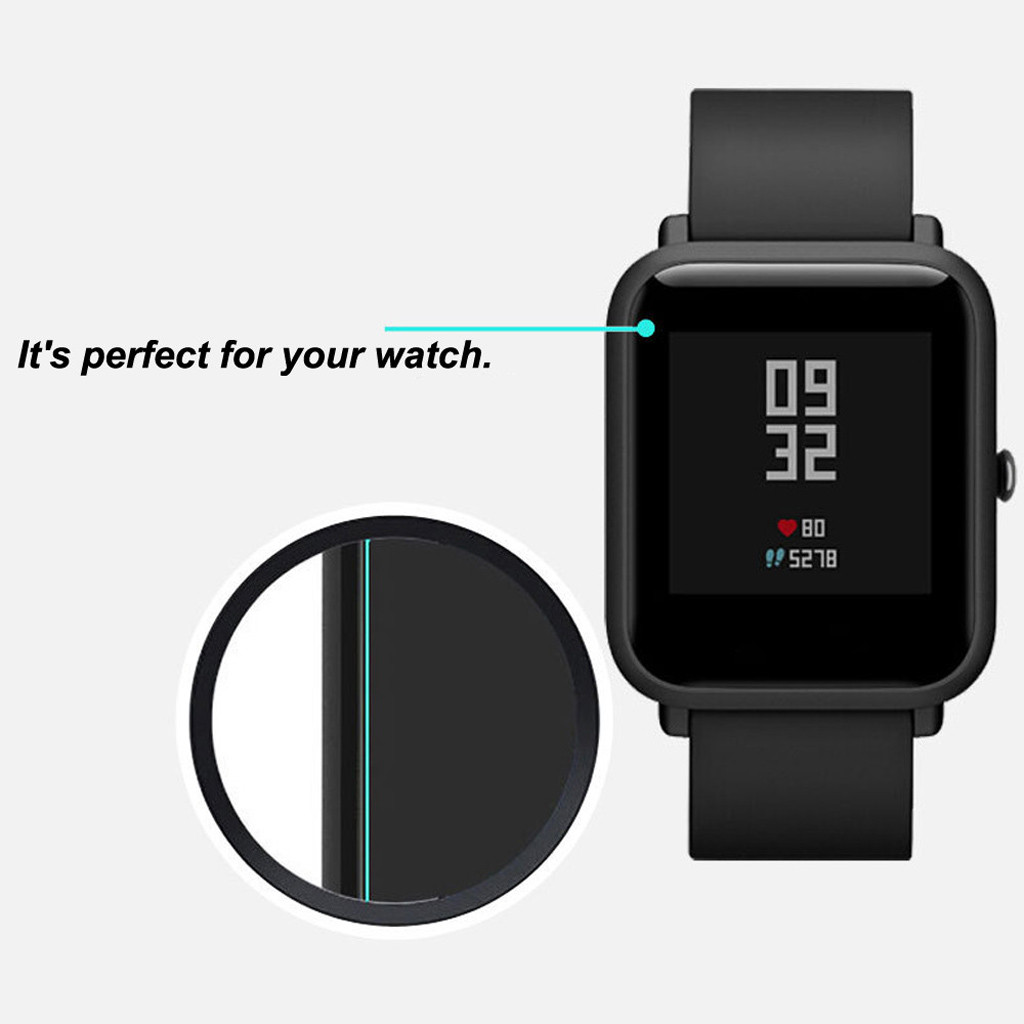 Image 2 - 5PCS Stylish Transparent Clear Screen For Amazfit Protective Film Waterproof Film For Xiaomi Huami Amazfit Bip Youth Watch L0507-in Smart Accessories from Consumer Electronics