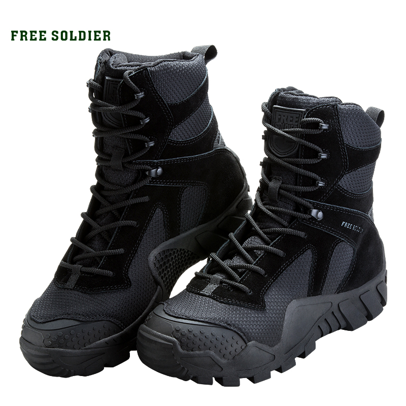 FREE SOLDIER Outdoor Camping Tactical Military Shoes Camouflage Combat Hiking Hunting Boots(China)