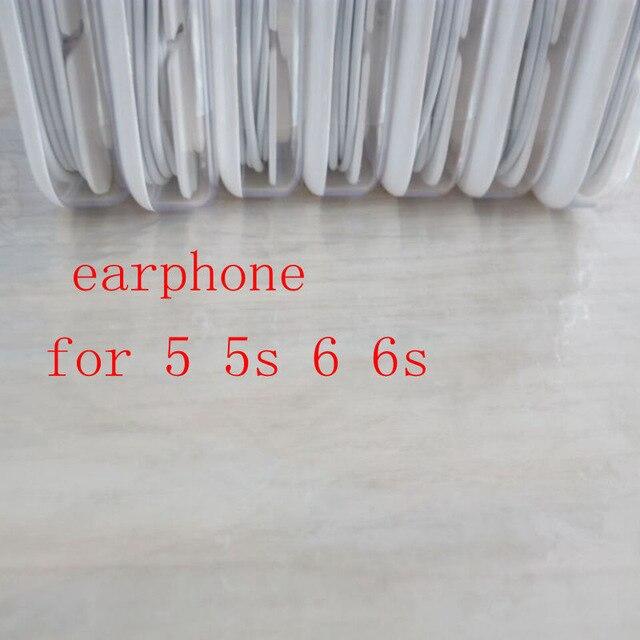 imágenes para Original Calidad Paquetes de Auricular en la oreja los auriculares auriculares Con Micrófono Remoto para 5 5S 6 6 s Más En El comercio minorista embalaje