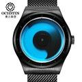 Ochstin moda criativa cinta de aço dos homens relógios top marca de luxo à prova d' água de quartzo relógio de pulso masculino relógio montre homme