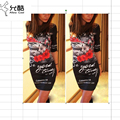 Vestidos 2017 Print Slim Pencil Dresses Party Plus Size Women Clothing Casual Bandage Bodycon Summer Mini Dress Robe Sexy Casual