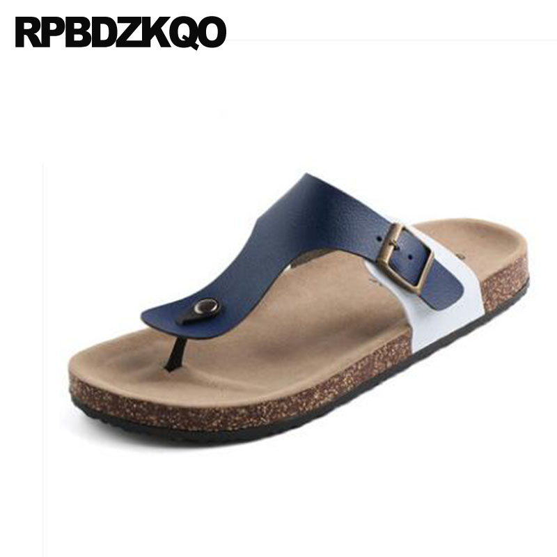 2e70dfb0863d8d Slides Slippers White Shoes Open Toe Famous Brand Designer Slip On Flat Men  Sandals Leather Summer 2018 Casual Outdoor Beach
