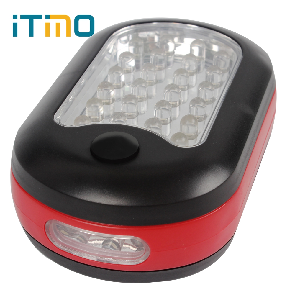 iTimo Outdoor Sport Magnetic Flashlight Magnet 27 LED Bulbs Work Lamp LED Hook Light Portable Hiking Camping Torch led hook light magnetic flashlight perfect torch work lamp with magnet and 2 light modes camping outdoor sport drop clh