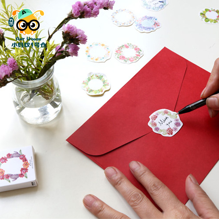 2pakcslot korean cute flower garland paper sticker decorative 2pakcslot korean cute flower garland paper sticker decorative sealing stickers planner diary notebook diy stationery stickers in stationery sticker from mightylinksfo