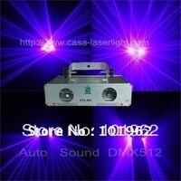 Laser Dual 200mW 405nm Violet Blue Party Laser Light DMX Sound Auto DJ Disco Christmas Stage