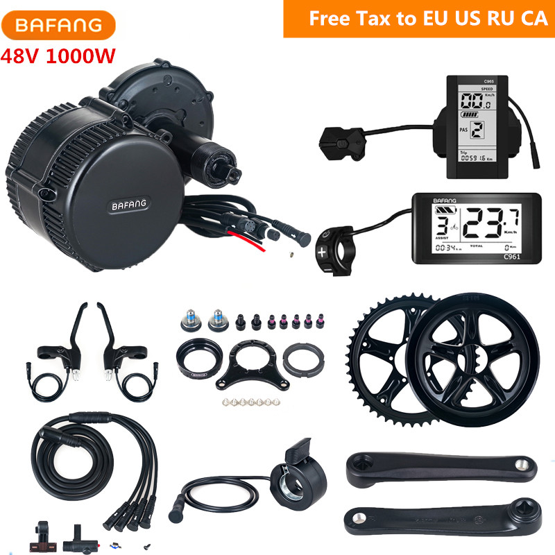 Bafang 8fun BBSHD BBS03 48V 1000w Mid Drive Motor Electric Bicycle Engine Kit Electric Motor for Bikes Ebike Conversion Kit