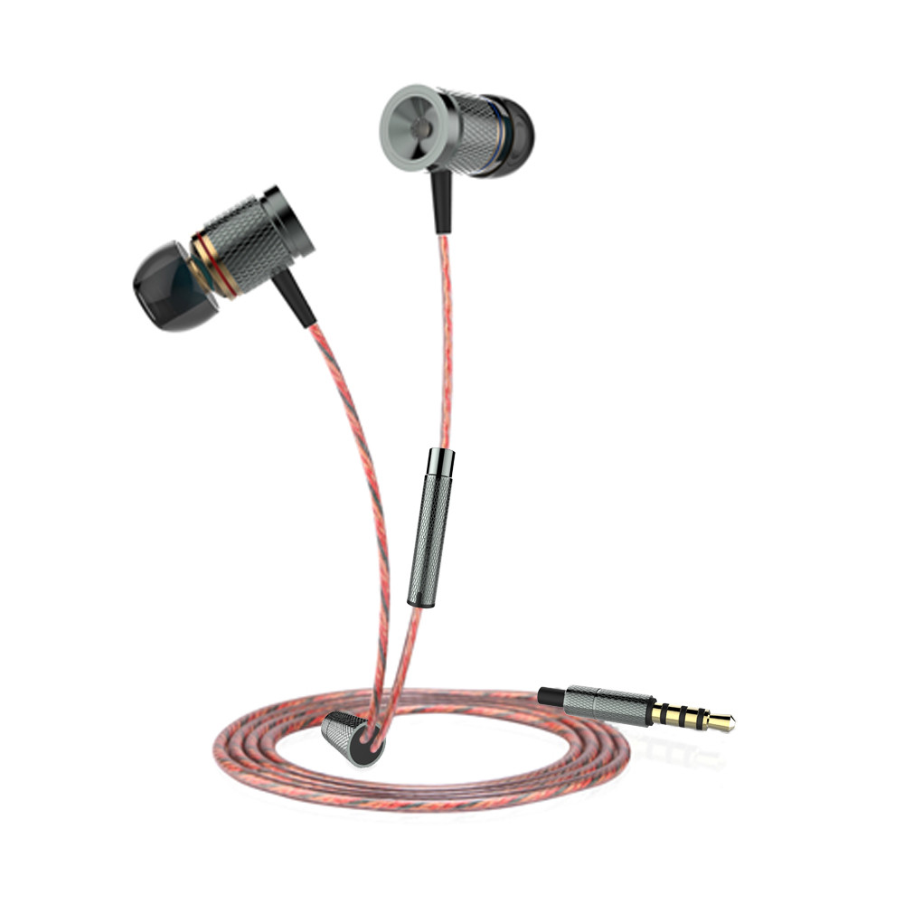 Plextone X53M Richbass Magnetic In-ear Earbuds With Mic For Mobile-Gray