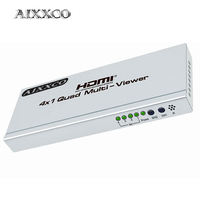 AIXXCO 4K HUB Switcher 4x1 Quad Multi viewer High Definition Screen Segmentation Seamless Switching Output Switch For HDTV DVD